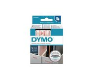 DYMO D1 Tape / 12mm x 7m / Red Text / White Tape (S0720550)