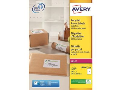 AVERY Shipping Labels  for big parcels and pallets   199.6 x 289.1 mm (LR7167-100)