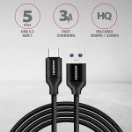 AXAGON HQ Cable USB-C <-> USB-A 3.1. Black. 0.5m Factory Sealed (BUCM3-AM05B)