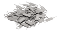 DELTACO sim card tray opener, 50-pack, stainless steel