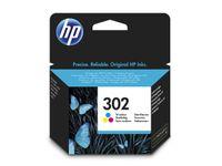 HP 302 trefärgs original bläckpatron (F6U65AE $DEL)