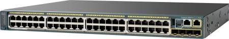 CISCO Switch/ 2960S 48 GigE PoE 370W 4 SFP LAN (WS-C2960S-48LPS-L $DEL)
