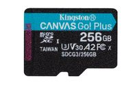 KINGSTON 256GB microSDXC Canvas Go Plus 170R A2 U3 V30 Single Pack w/o ADP (SDCG3/256GBSP)