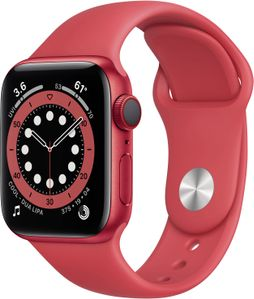 APPLE Watch Series 6 red aluminium  40mm (product) red sport band DE (M00A3FD/A)