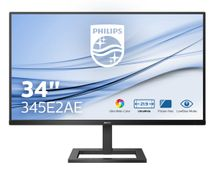 PHILIPS 345E2AE/ 00 E Line 34inch 3440x1440 IPS Flat Ultra Wide Color Technology FreeSync 75Hz SPEAKERS 1xDP 2xHDMI VESA 100x100