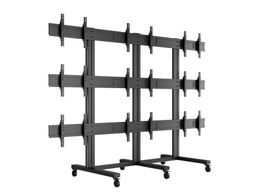 MULTIBRACKETS Public Video Wall Stand 9-Screens 40-55inch Black