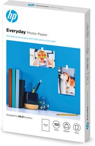 HP Everyday Glossy photo paper white 200g/m2 100x150mm 100 sheets 1-pack (CR757A)