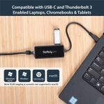 STARTECH USB-C to Gigabit Network Adapter with Extra USB 3.0 Port	 (US1GC301AU)