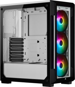 CORSAIR iCue 220T RGB White Front Glass Edition, Mid-Tower (CC-9011191-WW)