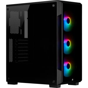 CORSAIR iCue 220T RGB Black Front Glass Edition, Mid-Tower (CC-9011190-WW)