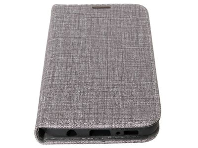 IIGLO Galaxy S10e fabric wallet fabric PU wallet case grey (IICS031)