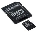 KINGSTON 8GB microSDHC med SD adapter