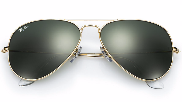 RAY-BAN Aviator Gold - Green - Solbriller (RB3025-L0205-58)