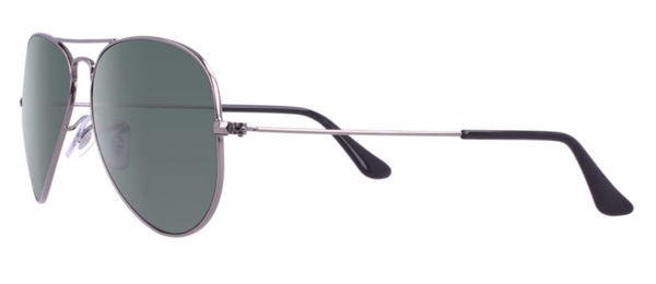 RAY-BAN Aviator Gunmetal - Green - Solbriller (RB3025-W0879-58)
