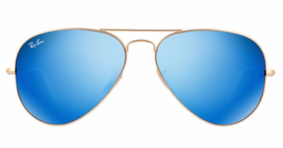 Aviator Gold - Blue Flash - Solbriller