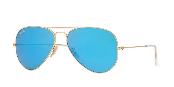 RAY-BAN Aviator Gold - Solbriller - Blue Flash (RB3025-112/17-58)