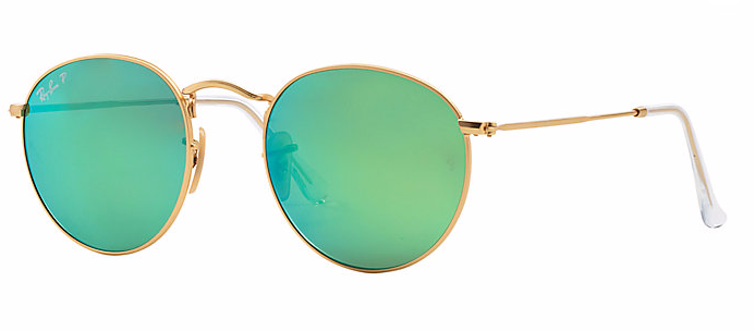 Round Gold - Polarized Green Flash - Solbriller