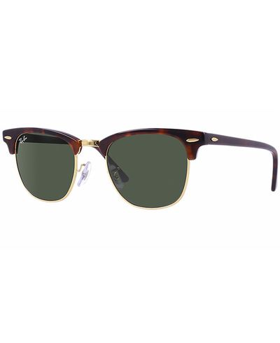 RAY-BAN Clubmaster Tortoise - Solbriller - Green
