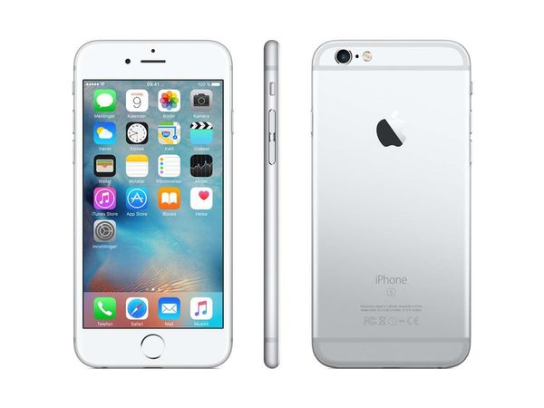 APPLE iPhone 6s 128GB - Mobiltelefon - Sølv (MKQU2QN/A)