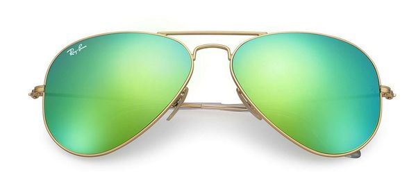 RAY-BAN Aviator Gold - Solbriller - Green Flash  (RB3025-112/19-58)