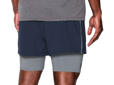 2-in-1 Trainer - Short - Marineblå