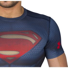 Under Armour Superman Suit - T-skjorte (1273689-410-S)