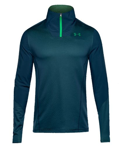 Under Armour ColdGear Infrared 1/4 Zip Fitted - Trøye - Grå/Grønn (1285632-861-XL)
