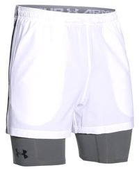 Under Armour 2-in-1 Trainer - Short - Hvit