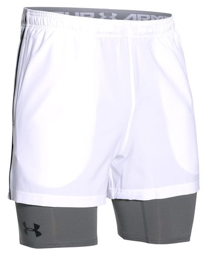 Under Armour 2-in-1 Trainer - Short - Hvit (1271948-100-M)