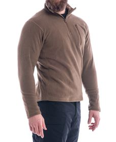 Fleece Pullover 1/4 Zip - Genser - Coyote