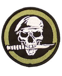 MILRAB Military Skull 9cm x 9cm - Patch