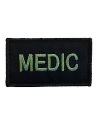 MILRAB MEDIC 8cm x 5cm - Patch - Olive on Black