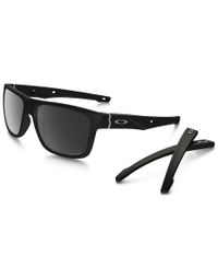 Oakley Crossrange Matte Black Polarized - Solbriller - Prizm Black