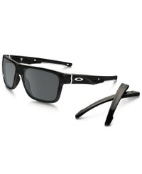 Oakley Crossrange Polished Black - Solbriller - Black Iridium (OO9361-02)