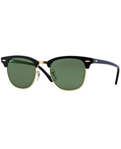 RAY-BAN Clubmaster Black - Solbriller - Green (RB3016-W0365-49)