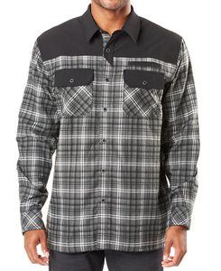 5.11 Tactical Endeavor Flannel - Skjorte - Charcoal Plaid (72468-084-M)