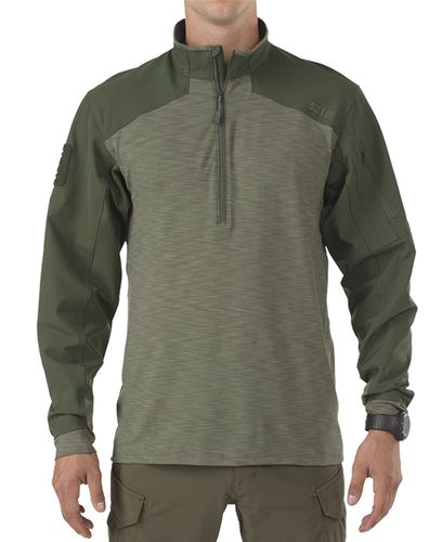 5.11 Tactical Rapid 1/4 Zip - Trøye - TDU Green (72415-190-M)