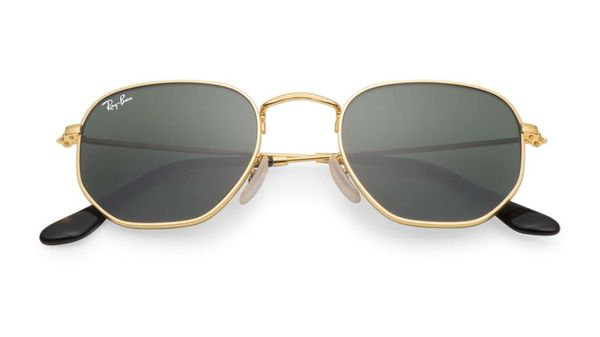 RAY-BAN Hexagonal Gold - Solbrille - Green (RB3548N-001)