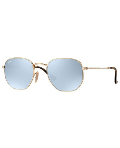 RAY-BAN Hexagonal Gold - Solbrille - Grey Flash (RB3548N-001/30)