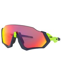 Oakley Flight Jacket Matte Navy - Sportsbriller - Prizm Road
