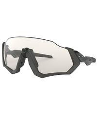 Oakley Flight Jacket Grey Ink - Sportsbriller - Clear Black Iridium Photochromic