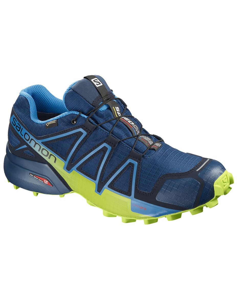 Salomon Speedcross 4 GTX Sko BlåGul (L40492300 8,5)
