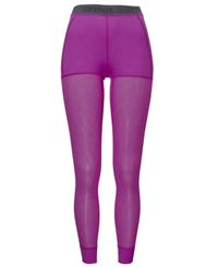 Brynje Lady Wool Thermo Light - Longs - Lilla