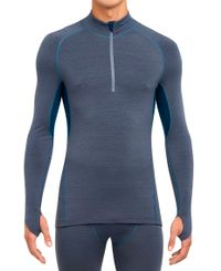Thermowave Merino Arctic 1/2 Zip - Trøye - Dusty Blue