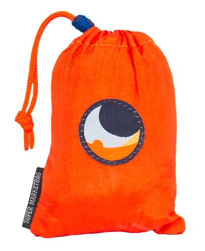 Ticket To The Moon Eco Super Market Bag 40L - Bag - Oransje/ Lyseblå (TMSB3509)