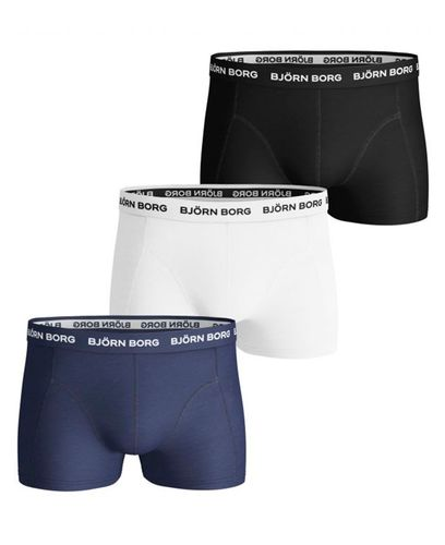 Björn Borg Sammy Solid 3pack - Boxershorts - Blue Depths (9999-1024-70101-S)