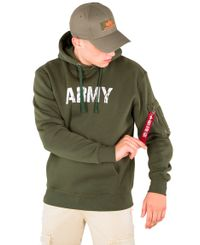 Alpha Industries Army - Hettegenser - Dark green (193178315-257)