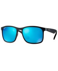 RAY-BAN RB4264 Chromance Black - Solbriller - Polarized Blue Mirror - 58