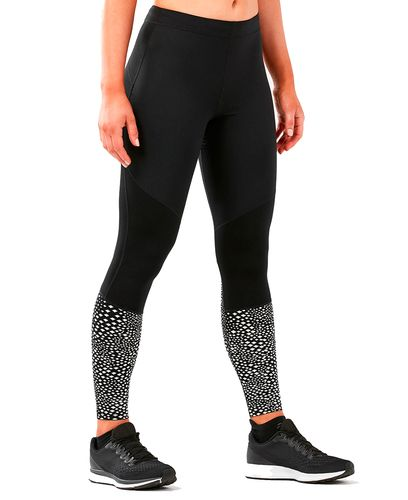 2XU Wind Defence Comp Womens - Tights - Svart/ Sølv (WA5392b-XL)
