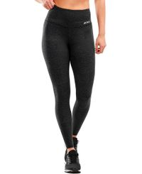 2XU Fitness Hi-Rise Comp Womens - Tights - Wave Spot Charcoal (WA5657b)